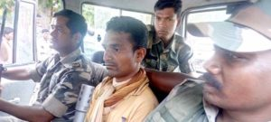 Dantewada rape accused CAF jawan DR Netam - Front row, centre-1466658795